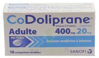 CODOLIPRANE ADULTES 400 mg/20 mg, comprimé sécable à Courbevoie