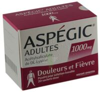 ASPEGIC ADULTES 1000 mg, poudre pour solution buvable en sachet-dose à Courbevoie