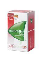 NICORETTE 2 mg Gom à mâcher médic sans sucre fruits Plq/105 à Courbevoie