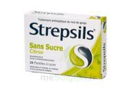 STREPSILS CITRON SANS SUCRE, pastille édulcorée à l'isomalt, au maltitol et à la saccharine sodique à Courbevoie