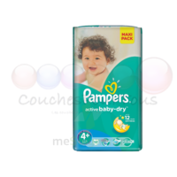PAMPERS ACTIVE BABY DRY T4+ X 53 à Courbevoie