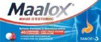 MAALOX MAUX D'ESTOMAC HYDROXYDE D'ALUMINIUM/HYDROXYDE DE MAGNESIUM 400 mg/400 mg SANS SUCRE FRUITS ROUGES, comprimé à croquer édulcoré à la saccharine sodique, au sorbitol et au maltitol à Courbevoie