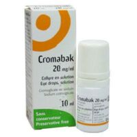CROMABAK 20 mg/ml, collyre en solution à Courbevoie
