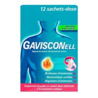 GAVISCONELL Suspension buvable sachet-dose menthe sans sucre 12Sach/10ml à Courbevoie