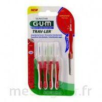 Gum Trav - Ler, 0,8 Mm, Manche Rouge , Blister 4 à Courbevoie