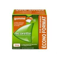Nicorette 2 Mg Gomme à Mâcher Médicamenteuse Sans Sucre Fruits Plq/210 à Courbevoie