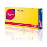 Oligosol Lithium Solution buvable en ampoule ou en récipient unidose 28Amp/2ml à Courbevoie