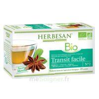 Herbesan Infusion Bio Tisane Transit Facile 20 Sachets à Courbevoie