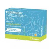 Fluimucil Expectorant Acetylcysteine 600 Mg Glé S Buv Adultes 10sach à Courbevoie