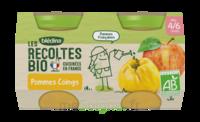 Blédina Les Récoltes Bio Pommes Coings 2 Pots/130g à Courbevoie