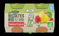 Blédina Les Récoltes Bio Pommes Fraises 2 Pots/130g à Courbevoie
